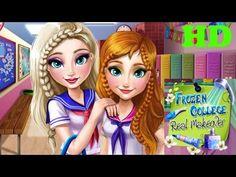 ♥  Frozen Games Frozen Elsa And Anna Dressup College Prep ♥