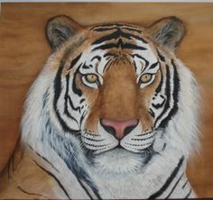 Tiger Silk painting by Tina using anti-fusant.