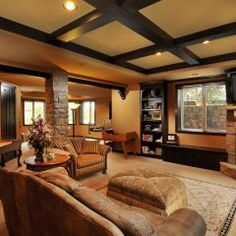 Elegant Open Basement Ideas