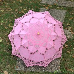 Optional Style Color Handmade Cotton Lace Parasol Umbrella for Bridal Wedding | eBay