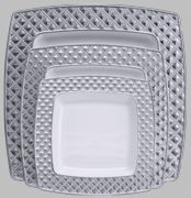 Our newly designed elegant square plates will definitely shape your table with its exquisite look and feel. Disposable Plastic Plates, Square Plates, Shapes, Elegant, Diamond, Party, Table, Design, Classy