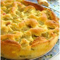 """GÂTEAU DE RHUBARBE """"Weight Watchers"""" Un délicieux gâteau léger sans beurre et sans farine avec une texture aérienne et mousseuse au bon goût de rhubarbe fraîchement cueilli du potager..."""