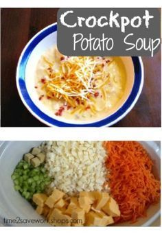 Crockpot Potato Soup Recipe (Cheesy and EASY!) - Time 2 Save Workshops