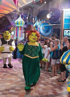 Shrek comes to town aboard Oasis of the Seas!