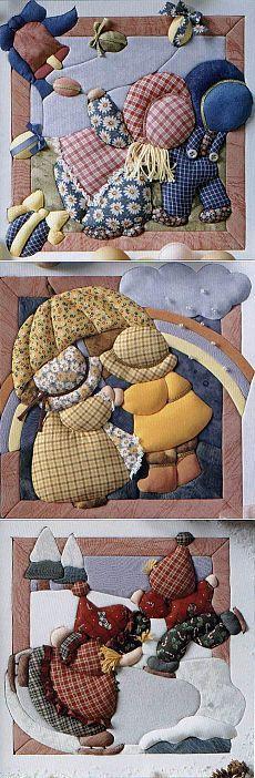 pinturas patchwork en el kinusayga estilo japonés - Artesanía