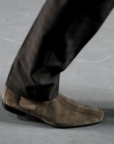 The Rules of a Modern Gentleman: The GQ Fall 2011 Trend Report Me Too Shoes, Men's Shoes, Suede Boots, Leather Shoes, Modern Gentleman, Mens Fall, Well Dressed, Gq, Chelsea Boots