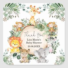 Safari Party, Safari Theme, Jungle Animals, Baby Animals, Wild Animals, Safari Invitations, Unicorn Pictures, Baby Shower Invitaciones, 1st Boy Birthday