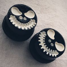 5/8 inch 16mm  Spooky Skull Face Steel Tunnels Goth Gothic Movies Tim Burton