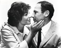 """Mel Brooks spent """"the 45 greatest years of his life"""" with late wife, Anne Bancroft. Upon meeting her he proclaimed, """"I'm Mel Brooks and I'm going to marry you From that day, until her death on June we were glued together"""" 💖💖 Hollywood Couples, Celebrity Couples, Old Hollywood, Celebrity Photos, Hollywood Style, Hollywood Actresses, Classic Hollywood, Celebrity Weddings, Carl Reiner"""