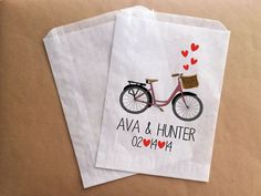 Bicycle Wedding Theme Wedding Favor Bags Candy Bar Bag Candy Buffet on Etsy, $25.00