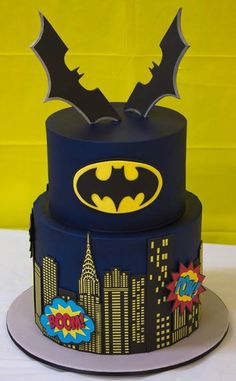 Be the dark knight with these polished stainless steel batman rings! Lego Batman Cakes, Batman Birthday Cakes, Lego Batman Party, Lego Cake, Superhero Cake, Superhero Birthday Party, Cake Minecraft, Minion Cakes, Minecraft Houses