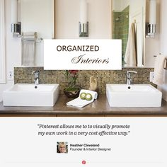 Heather Cleveland of Organized Interiors has been working as a residential designer for over 15 years. See how she uses Pinterest to collaborate with her clients to achieve uncompromising style.