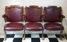 Antique Leather Cinema Seats - Bring It On Home