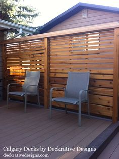 privacy deck railing ideas - Google Search