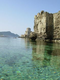 The forgotten fortress of Methoni in Messenia, Peloponnese, Greece. Built by the Venetians in the century in order to secure the silk road, the city was then destroyed by the Turks in Vacation Places, Vacation Trips, Vacation Travel, Travel Agent Career, Travel Jobs, Vintage Travel Trailers, Greece Travel, Abandoned Places, Cool Places To Visit