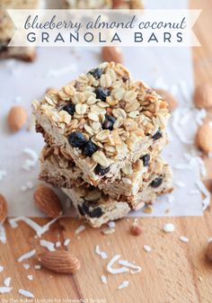 blueberry granola bar recipe