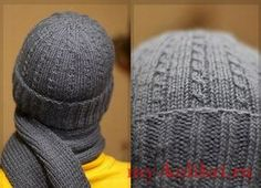 Вязание шапки мужской спицами красивым узором мелкие косы со схемой и описанием работы. Узнайте как связать мужскую шапку спицами для любимого мужчины на Новый Год или на День Валентина.