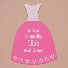 What an easy way to create custom thank you favor tags! Use these dainty cards to coordinate with the dress-shaped invitation die. Add jewels or pearls to add that special touch to them.