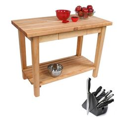 Awesome Rolling butcher Block