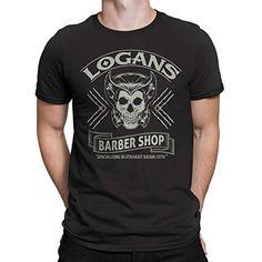 c425f14ae Wolverine X-Men Inspired -Logan Logan s Barbershop Mens T-Shirt- Black (