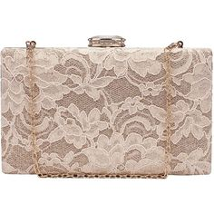 Chichitop Women's Elegant Floral Lace Design Evening Wedding Clutch... ($21) ❤ liked on Polyvore featuring bags, handbags, clutches, floral handbags, evening clutches, floral clutches, evening bags and pink handbags