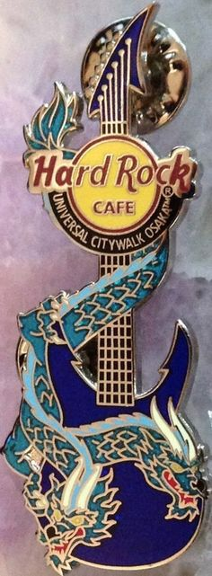 Hard Rock Cafe UC OSAKA 2006 DRAGON GUITAR Series PIN LE 300! HRC Catalog #32765 #PinsBadges