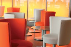 Close-up of some #Konic #chairs, designed by Josep Lluscà for ENEA DESIGN. #furniture #restaurants #bars