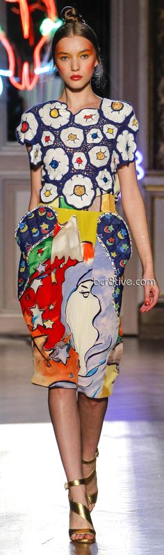 This is what you'd design as a mean prank on someone and giggle when they actually wear it!  The skirt is a new level of unflattering. Tsumori Chisato 2013