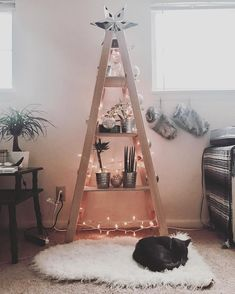 Here's how to DIY a Christmas tree that doubles as a shelf you can use all year round!