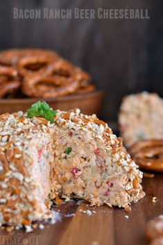 Without a doubt, this is what you want to serve at your next party. This Bacon Ranch Beer Cheeseball will blow any other appetizer you've ever had out of the water. It's just that good.