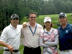 In May Mike Nichols '89, Vice President, Tournament Business Affairs for the LPGA,  was back in New Jersey for an LPGA tournament in Gladstone where he ran  into classmate and Green Wave golf teammate John Werring '89 and his brother Jeff.  From left are John Werring '89, Mike Nichols '89, Na Yeon Choi (#2 in the world) and Jeff Werring.  The Werrings played with Choi in the LPGA pro-am tournament.