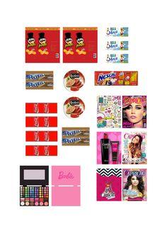 mini produtos para boneca barbie