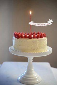 Wedding cake with raspberries