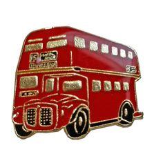 British Route Master / Routemaster / Double Decker Bus / Coach London, England UK Lapel Pin Souvenir