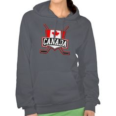 Canadian Hockey Logo Hoodie.  Warm and cosy American Apparel California Fleece hooded tops! For many more #hockey hoodies, please check out my store: http://www.zazzle.com/gamefacegear*/ #TeamCanada