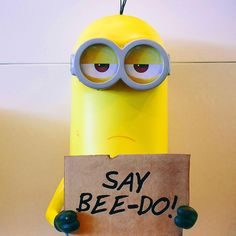 Okay....bee-do. And because we are but your Minion, we'll say it again. Bee-do, bee-do, bee-do, bee-do. #Minions #Minion #BeeDoo