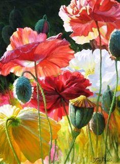 Art Floral, Pinturas Em Tom Pastel, Watercolor Flowers, Watercolor Paintings, Watercolors, Botanical Art, Beautiful Paintings, Belle Photo, Flower Art