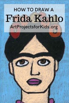How to Draw Frida Kahlo - Learn how to draw Frida Kahlo with this fun and easy art project for kids. Simple step by step tuto - Painting Lessons, Painting For Kids, Drawing For Kids, Painting Activities, Drawing Lessons, Drawing Tips, Easy Disney Drawings, Easy Drawings, Easy Art Projects
