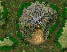 map druid hut hag lair witch camp fantasy forest maps wilderness rpg dungeon pathfinder dark medieval tree star seeress wars