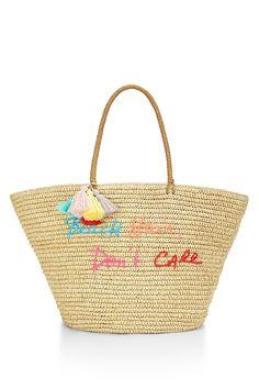 Rebecca Minkoff Straw, Beach Hair Don't Care Natural Straw Tote & Shopper #Doris_Daily_Deals #Bonanza http://www.bonanza.com/listings/452621553