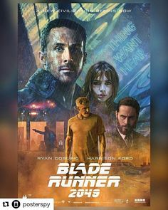 #popcultart #Repost @posterspy (@get_repost) Blade Runner 2049 poster art uploaded by @russellwalks. Really looking forward to this . #bladerunner2049 #ryangosling #harrisonford #posterspy @jaredleto @sonypicturesuk
