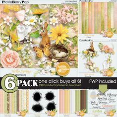 Hello Spring {6-Pack plus FWP} by Eudora Designs