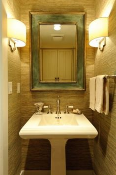 Side sconces for a small powder room...