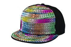 multicolours bling hiphop snapback cap rap street dancer cap glacier cap casual cotton baseball cap by littledandeliondream on Etsy