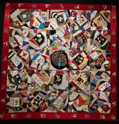 Victorian Crazy Quilt at the Baltimore Museum of Art.  Click through to see more at the blog, Plays with Needles.