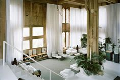 """An Architect's Home in an abandoned concrete factory 