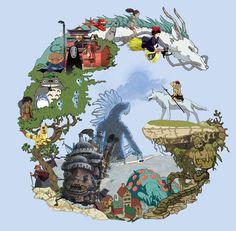 Studio Ghibli Collection by DinstruMental.deviantart.com on @DeviantArt