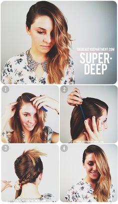 Deep Side Part tutorial. #DIY