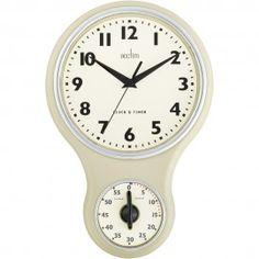 Kitchen Time Buttermilk Wall Clock 30cm