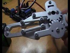 4 Bar Linkage End Effector, Robot Gripper Animation Diy Electronics, Electronics Projects, Robot Gripper, Rc Motors, Mobile Robot, Rc Robot, Robots, Wood Toys Plans, Computer Basics